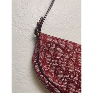 5a0ede568de Dior Bags | Gorgeous Saddle Bag Mini Burgundy Trotter | Poshmark